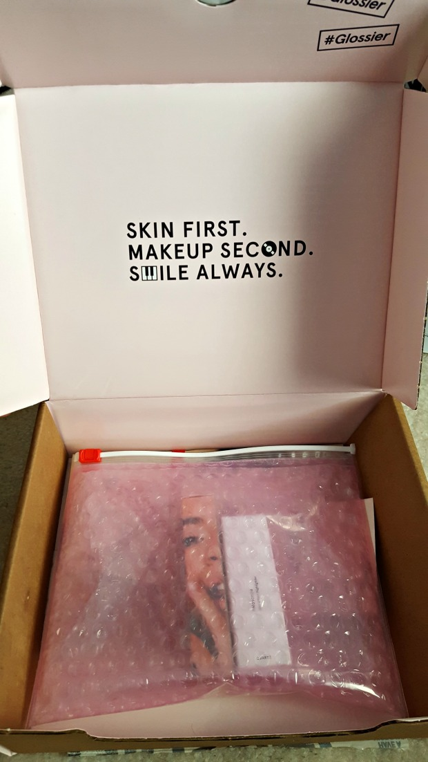 glossier unboxing